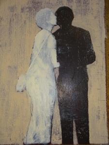 Billede af maler og digter Kai Savelsberg, som udstiller på ATENEO DE MALAGA
